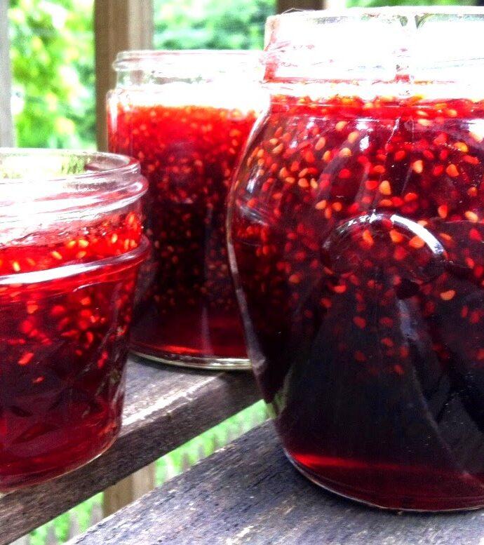 Foraged Wild Raspberry Jam