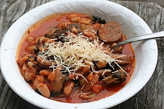 White Bean and Sausage Stew + Moving Out