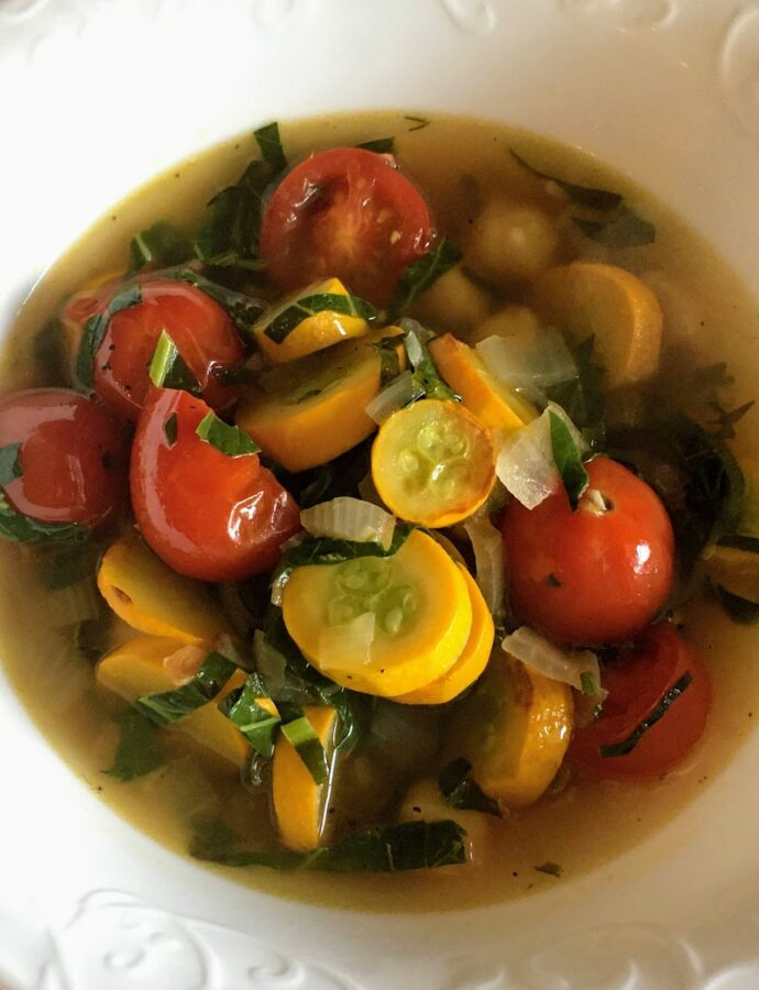 Thrifty Chickpea Broth Soup