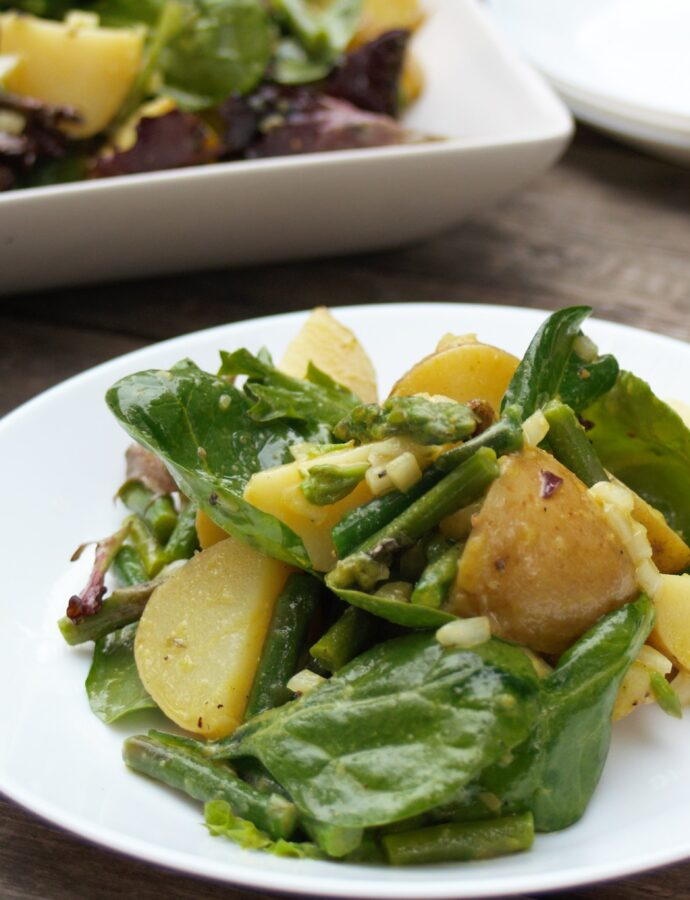 Spring Salad with Gold Potatoes and Asparagus