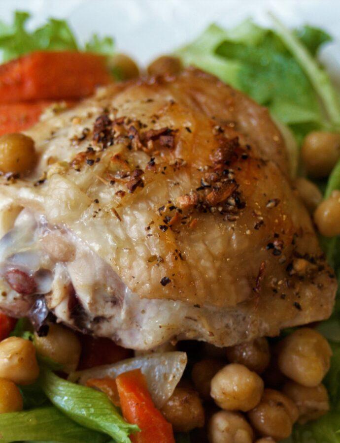 Sheet Pan Chicken, Chickpeas & Carrots