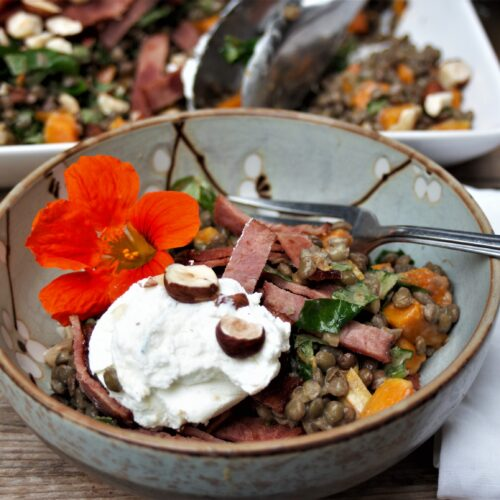 French Green Lentil and Butternut Squash Salad